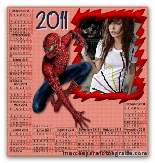 marco con calendario 2011 Marcos para fotos online