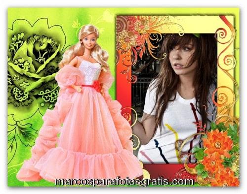 Marco para fotos de barbie