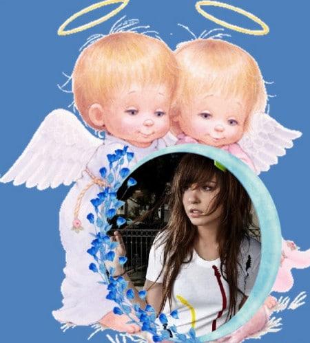 Marcos con angelitos para fotos